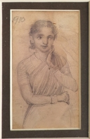3B) M. V. Dhurandhar, Untitled, 4 x 2.75 Inches, Pencil Drawing on Paper