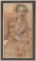 3C) M. V. Dhurandhar, Untitled, 5.25 x 3 Inches, Pencil Drawing on Paper